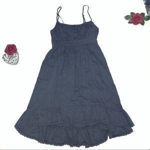 Mossimo Supply Co. Ruffle Chambray Ruffle Dress